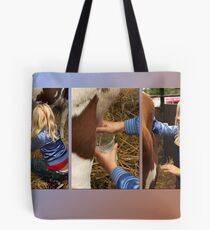 The girl and the cow - triptych 2 Tote Bag