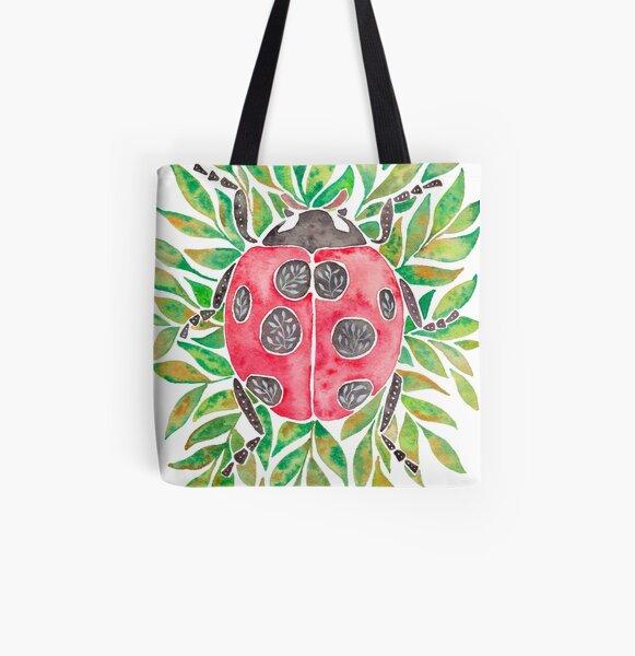 Ladybug All Over Print Tote Bag