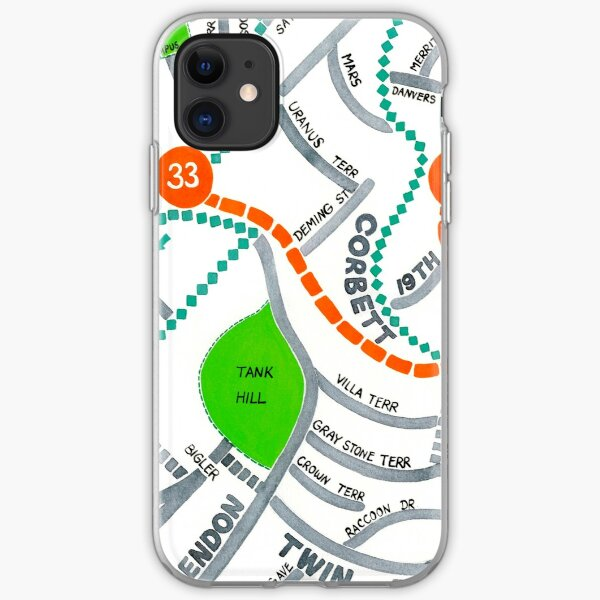 San Francisco map - Ashbury Heights iPhone Soft Case