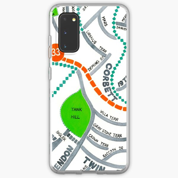 San Francisco map - Ashbury Heights Samsung Galaxy Soft Case