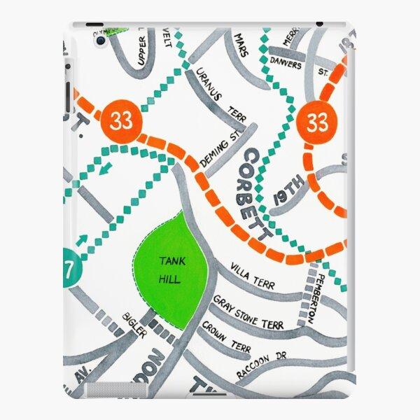 San Francisco map - Ashbury Heights iPad Snap Case