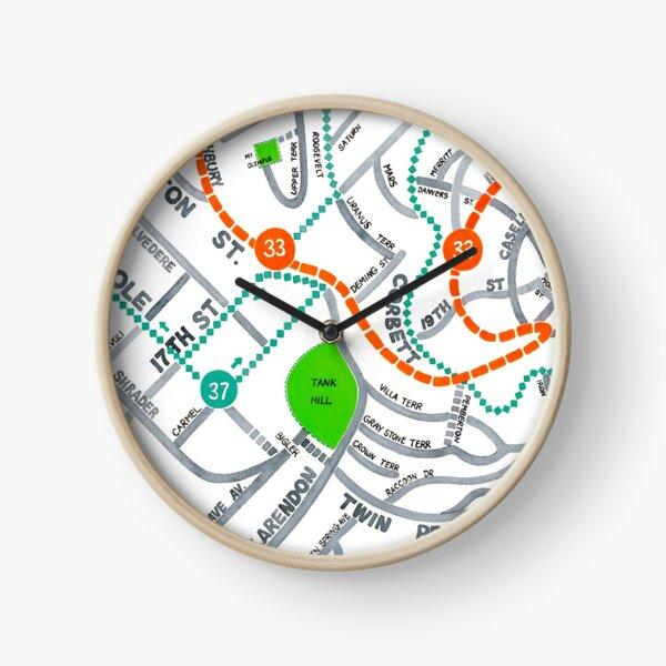 San Francisco map - Ashbury Heights Clock