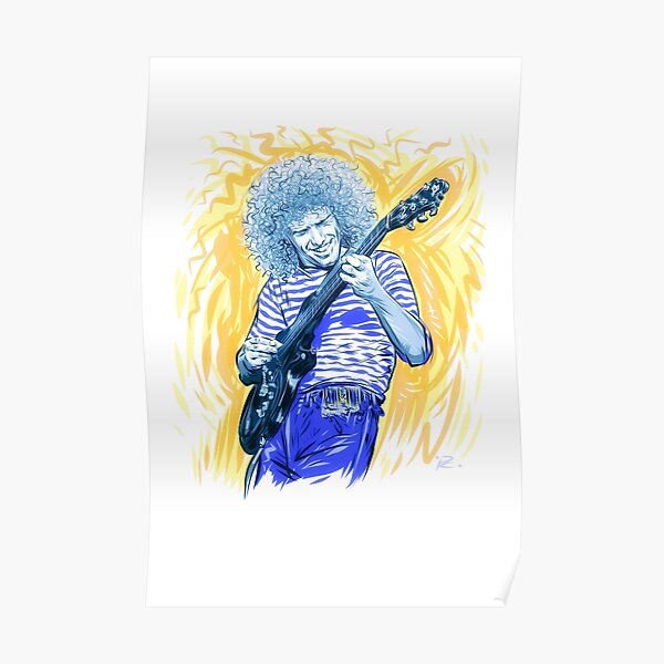 Pat Metheny - An illustration by Paul Cemmick Poster