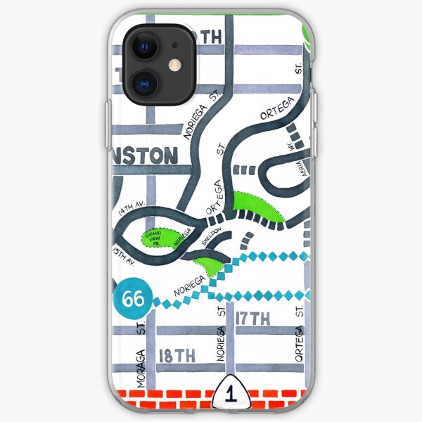 San Francisco map - Golden Gate Heights iPhone Soft Case