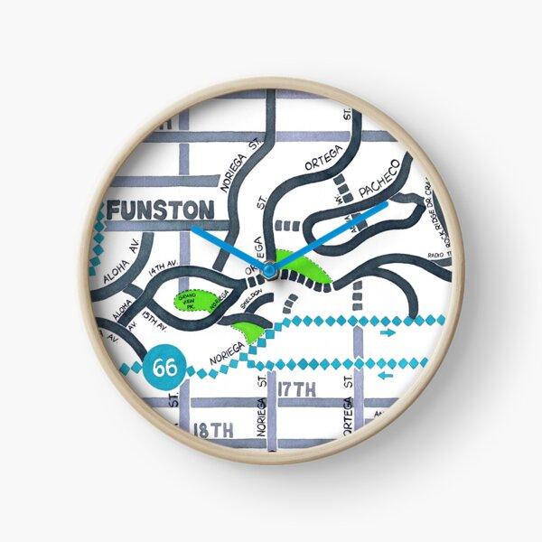 San Francisco map - Golden Gate Heights Clock