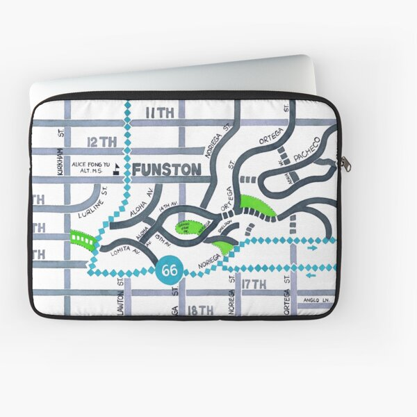 San Francisco map - Golden Gate Heights Laptop Sleeve