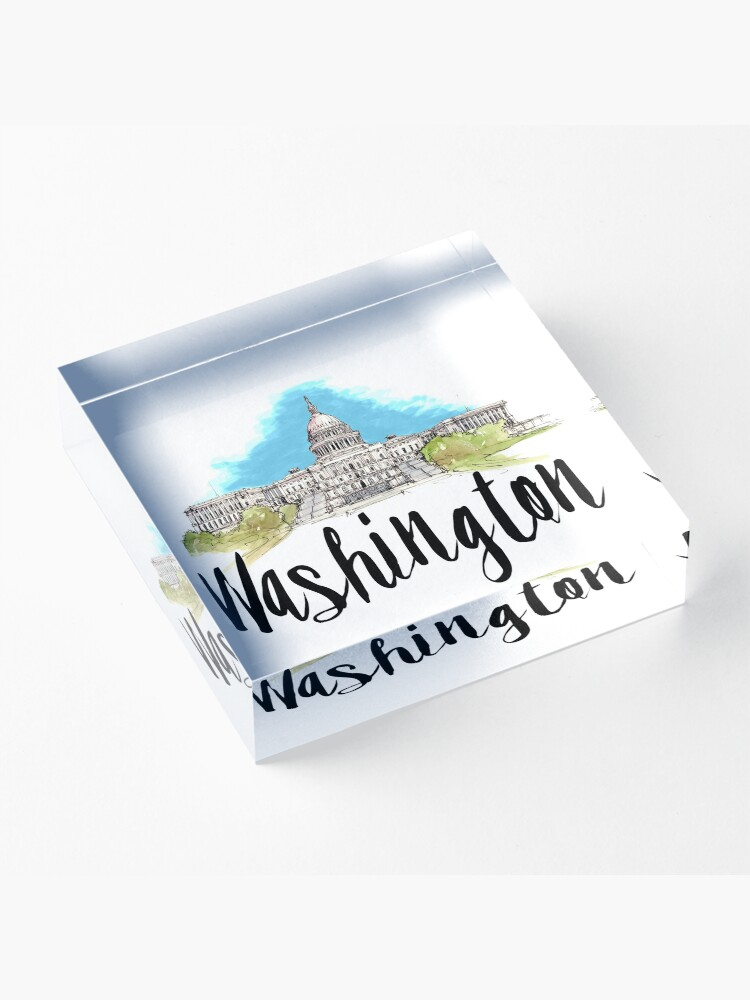 Alternate view of Washington Acrylic Block