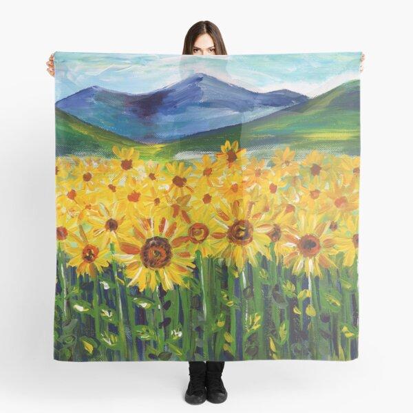 Sunflower Field Scarf