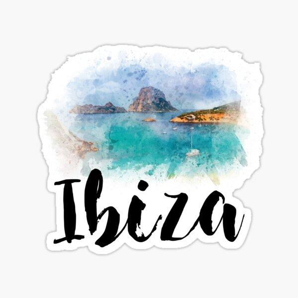 Watercolor Ibiza Sticker