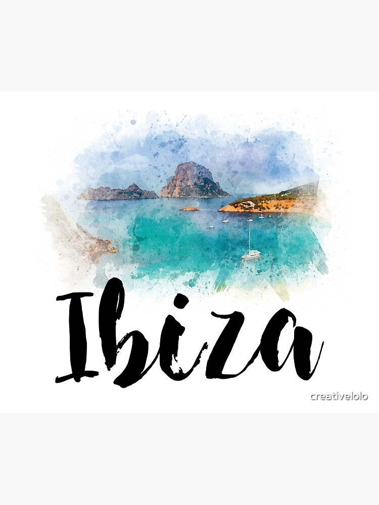 Watercolor Ibiza by creativelolo