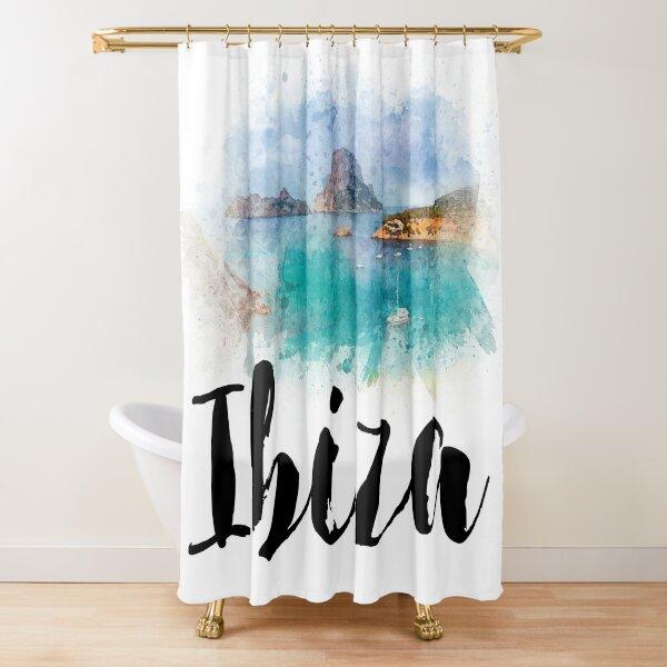 Watercolor Ibiza Shower Curtain