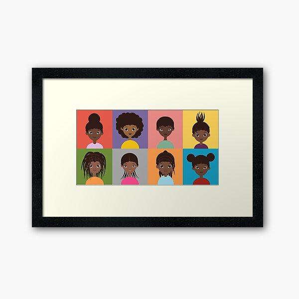 Girl Grid - 8 Framed Art Print
