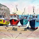 """Ready & Waiting"" - Boats at Cadgwith, Cornwall by Timothy Smith"
