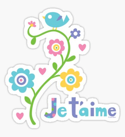 Je t'aime - I love you - dark Sticker