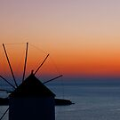 Windmill Sunset by Mark Robson