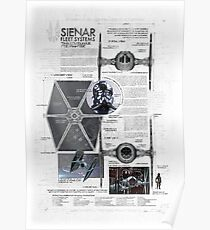 Twin Ion Engine (TIE) Fighter Poster