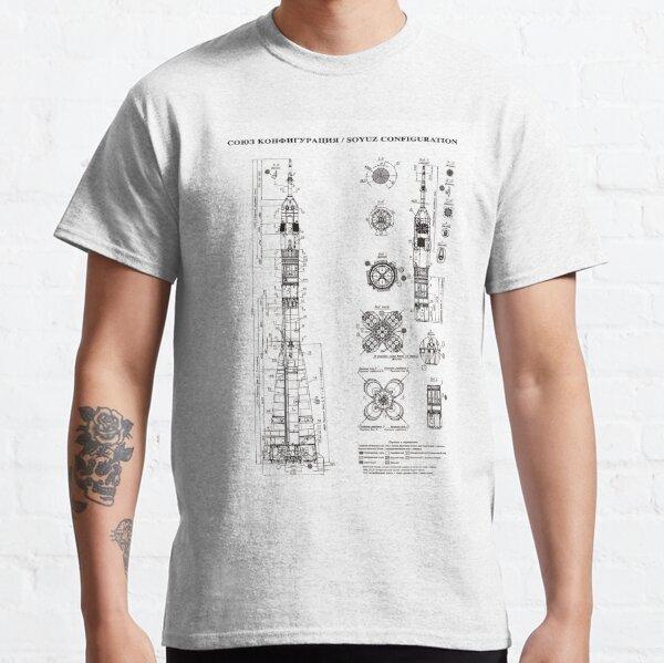 Soyuz Blueprint in High Resolution (white) Classic T-Shirt