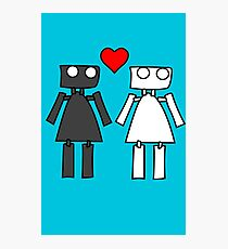 Lady bots in love geek funny nerd Photographic Print