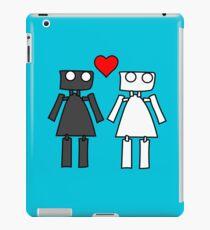 Lady bots in love geek funny nerd iPad Case/Skin