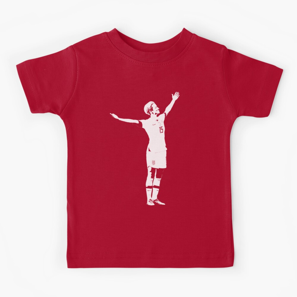 Megan Rapinoe The Victory Pose - White Stencil Kids T-Shirt