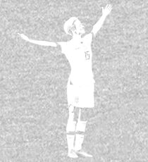 Megan Rapinoe The Victory Pose - White Stencil Kids Pullover Hoodie