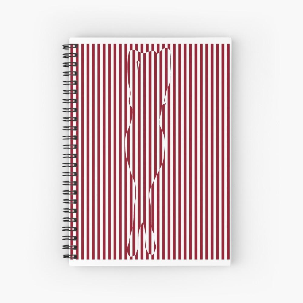 #Woman #Body #Silhouette #Clipart, anatomy, cute, sensuality, sex symbol, striped, elegance, design Spiral Notebook