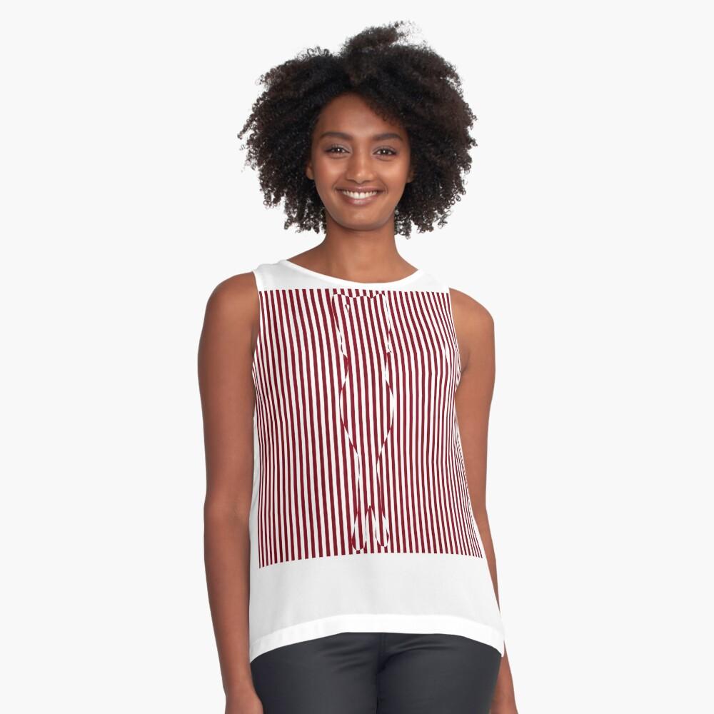 #Woman #Body #Silhouette #Clipart, anatomy, cute, sensuality, sex symbol, striped, elegance, design Sleeveless Top