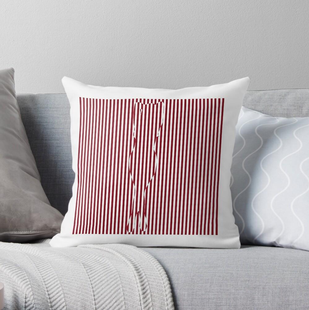 #Woman #Body #Silhouette #Clipart, anatomy, cute, sensuality, sex symbol, striped, elegance, design Throw Pillow