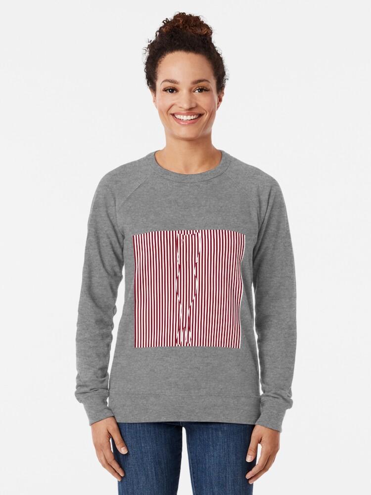 Alternate view of #Woman #Body #Silhouette #Clipart, anatomy, cute, sensuality, sex symbol, striped, elegance, design Lightweight Sweatshirt