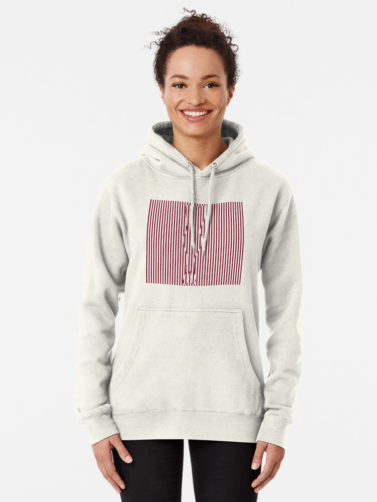 Alternate view of #Woman #Body #Silhouette #Clipart, anatomy, cute, sensuality, sex symbol, striped, elegance, design Pullover Hoodie