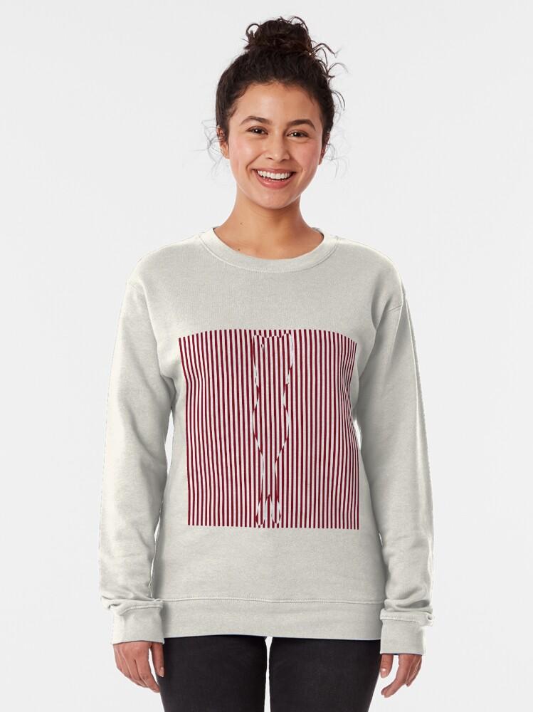 Alternate view of #Woman #Body #Silhouette #Clipart, anatomy, cute, sensuality, sex symbol, striped, elegance, design Pullover Sweatshirt