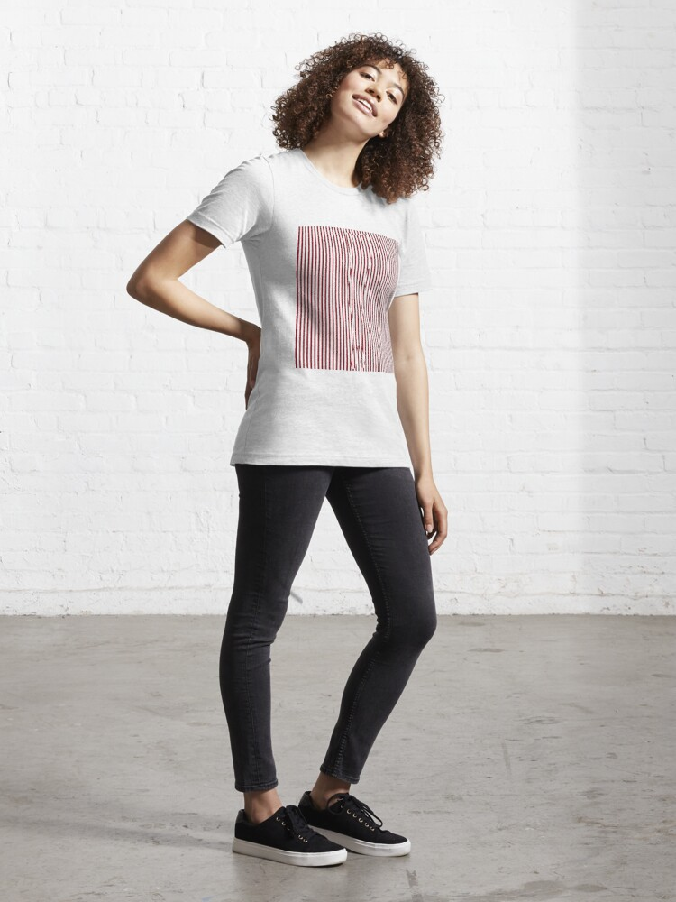 Alternate view of #Woman #Body #Silhouette #Clipart, anatomy, cute, sensuality, sex symbol, striped, elegance, design Essential T-Shirt