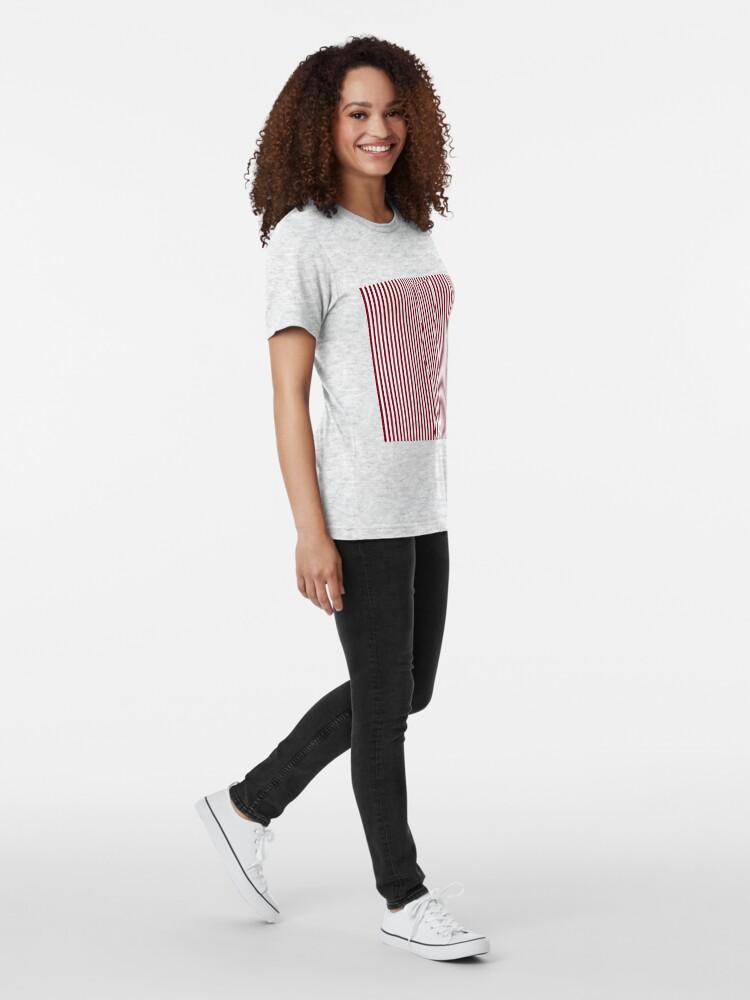 Alternate view of #Woman #Body #Silhouette #Clipart, anatomy, cute, sensuality, sex symbol, striped, elegance, design Tri-blend T-Shirt
