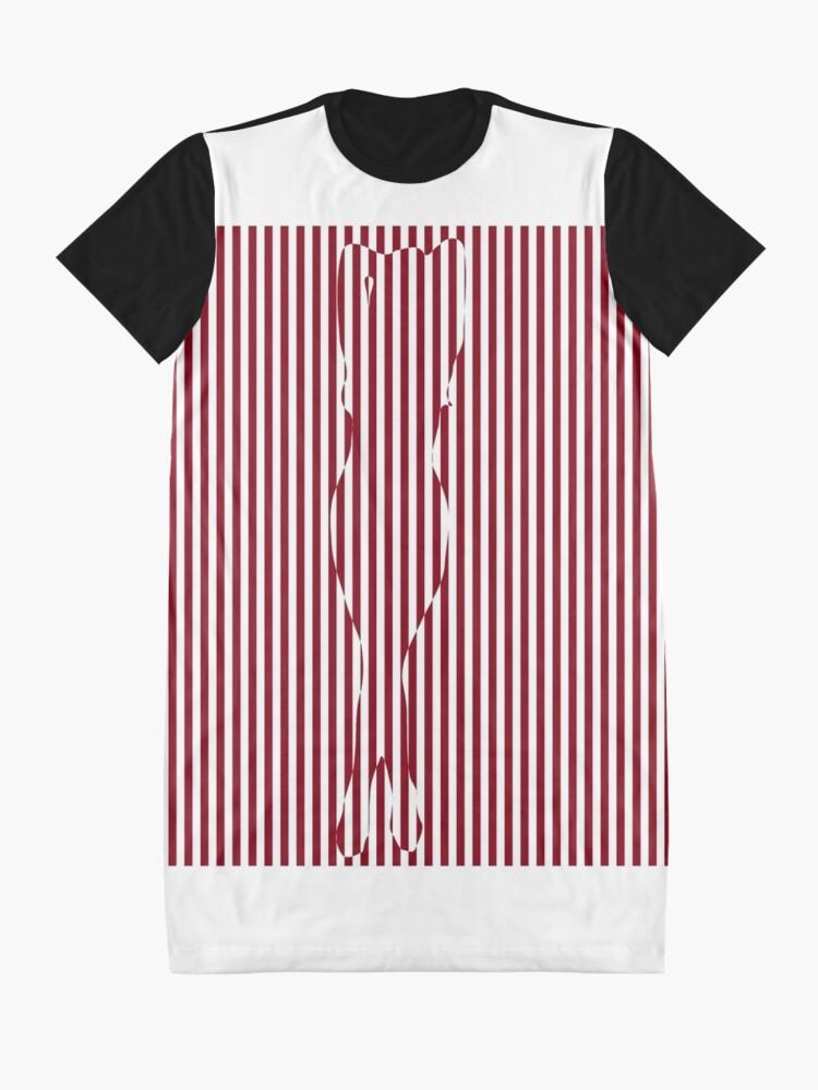 Alternate view of #Woman #Body #Silhouette #Clipart, anatomy, cute, sensuality, sex symbol, striped, elegance, design Graphic T-Shirt Dress