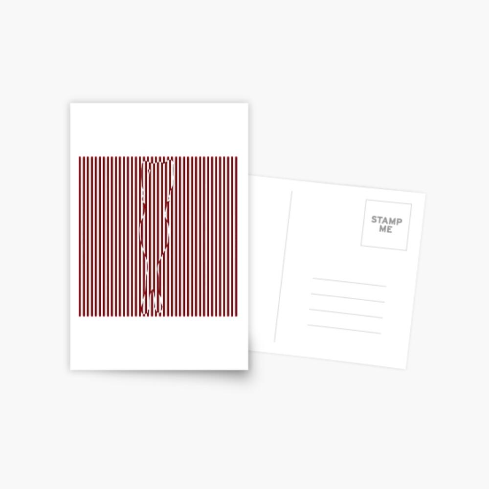 #Woman #Body #Silhouette #Clipart, anatomy, cute, sensuality, sex symbol, striped, elegance, design Postcard