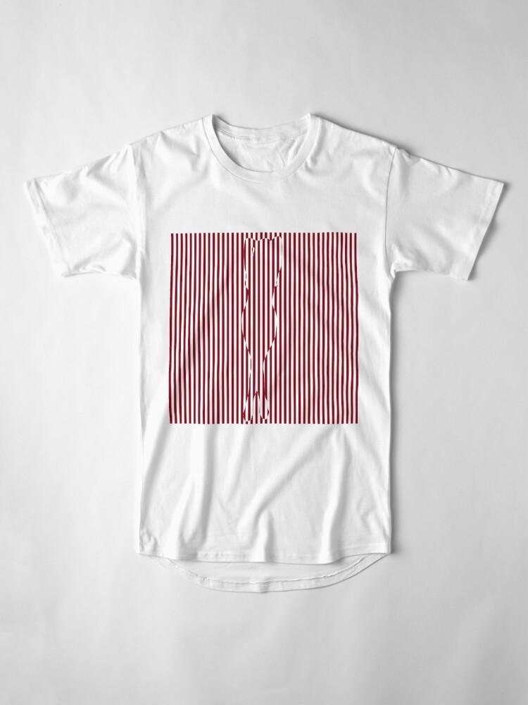 Alternate view of #Woman #Body #Silhouette #Clipart, anatomy, cute, sensuality, sex symbol, striped, elegance, design Long T-Shirt