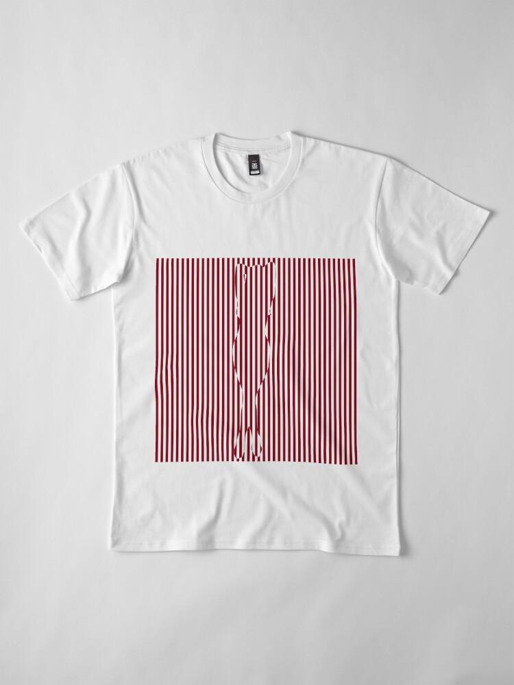 Alternate view of #Woman #Body #Silhouette #Clipart, anatomy, cute, sensuality, sex symbol, striped, elegance, design Premium T-Shirt