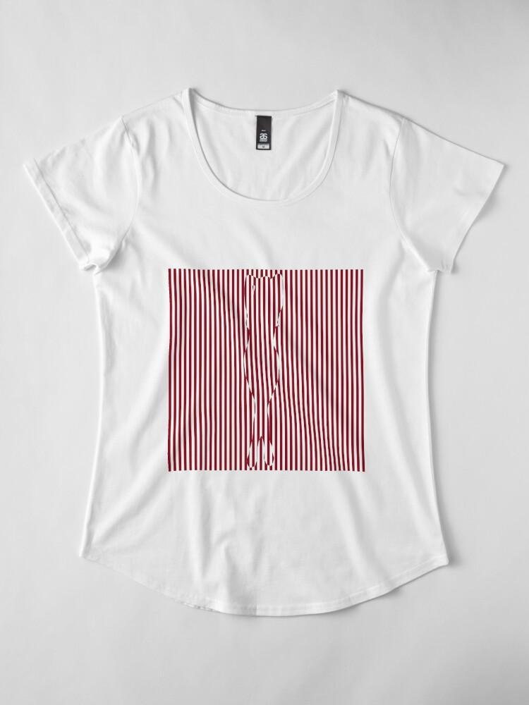 Alternate view of #Woman #Body #Silhouette #Clipart, anatomy, cute, sensuality, sex symbol, striped, elegance, design Premium Scoop T-Shirt