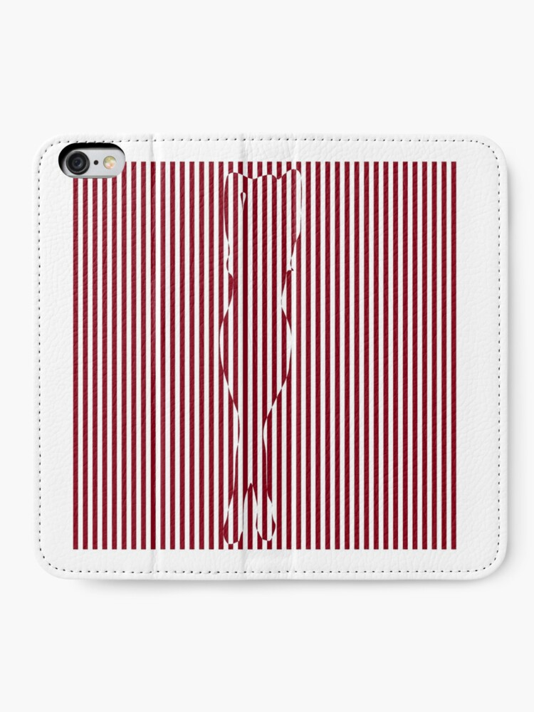 Alternate view of #Woman #Body #Silhouette #Clipart, anatomy, cute, sensuality, sex symbol, striped, elegance, design iPhone Wallet