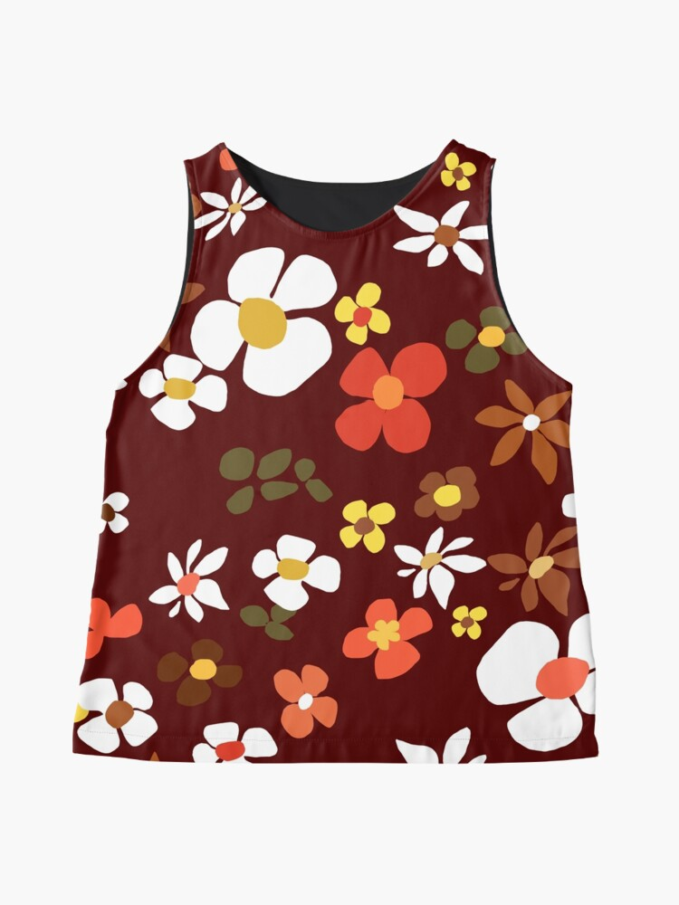 Alternate view of Floral Riot on Red Sleeveless Top