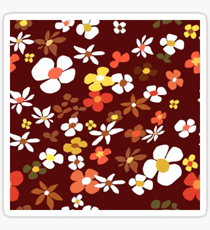 Floral Riot on Red Glossy Sticker