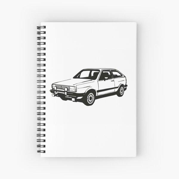 Gol GT white Spiral Notebook