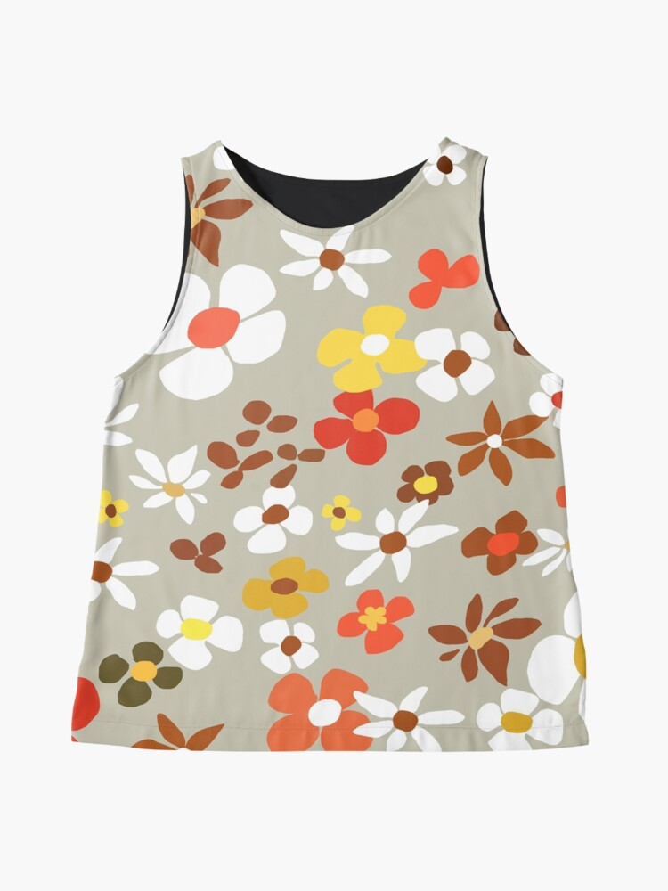 Alternate view of Floral Riot on Cream Sleeveless Top