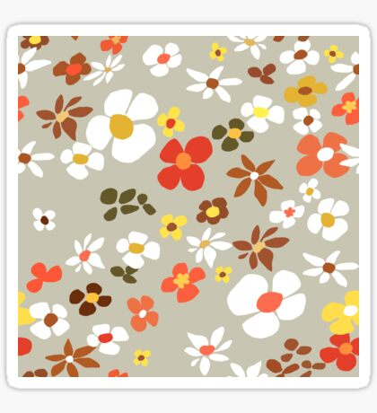 Floral Riot on Cream Glossy Sticker