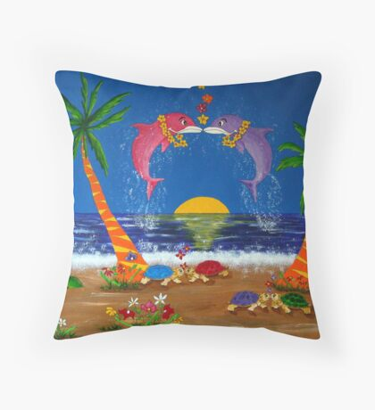 Island Love Throw Pillow