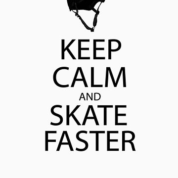 keep calm and skate sticker by sterry