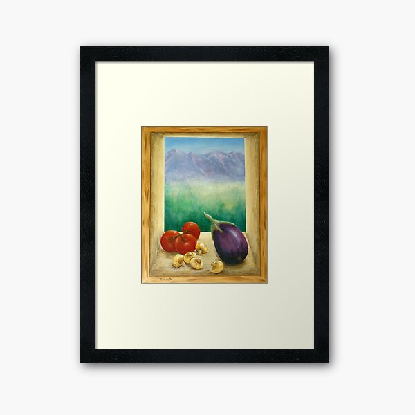 Colorado Rocky Mountains View Framed Art Print