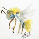 Bumblebee Watercolor by DesWesMaus