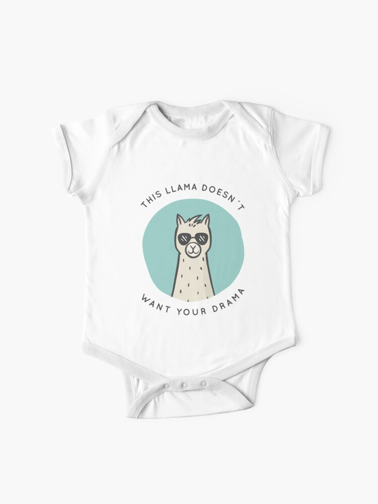 baby vest animal hipster llama drama  6393 This llama doesn/'t want any drama