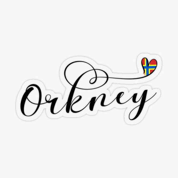 Orkney Flag in Heart, Scotland Transparent Sticker